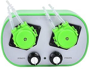 Yanmis High Flow Peristaltic Pump, 100-240V Dual Pump Head Type G628-2 Small Peristaltic Pump Food Grade Self-Priming Pump ((4-18ml/min) 2)