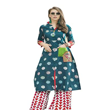f29e675c0d Generic Estilox ladies Cotton Kurti (Green) Medium: Amazon.in: Clothing &  Accessories