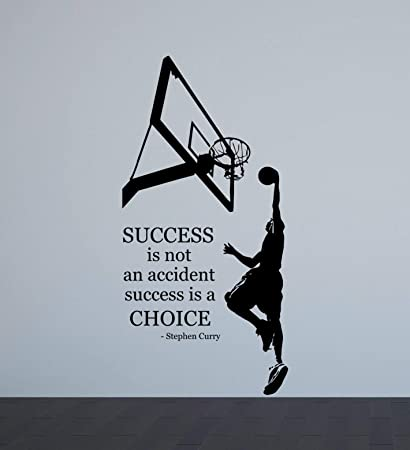 Amazoncom Stephen Curry Wall Decal Quote Success Is Not An
