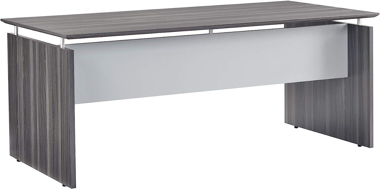 "Safco Products MNDS72LGS Medina Desk, 72"", Gray Steel"