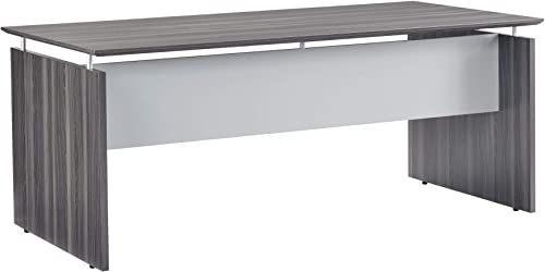 Safco Products Medina Desk, 63 , Gray Steel