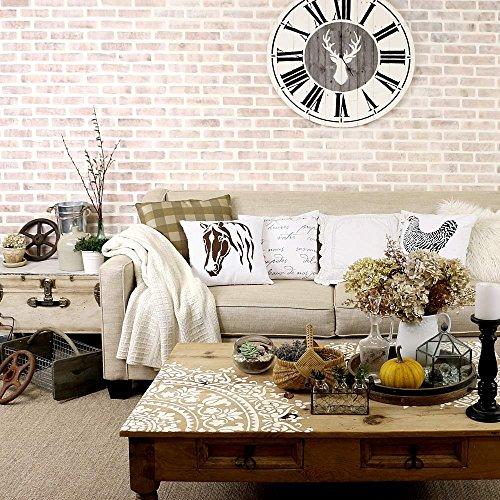 Brick Allover Stencil Wall Pattern - DIY Wall Decor - Wallpaper Alternative
