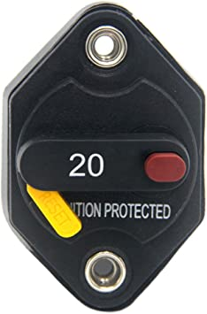Car 32V 40 AMP Ignition Protected Manual Reset Button Circuit Breaker