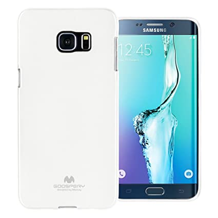 new style cda27 b8188 GOOSPERY Marlang Marlang Galaxy S6 Edge Plus Case - White, Free Screen  Protector [Slim Fit] TPU Case [Flexible] Pearl Jelly [Protection] Bumper  Cover ...