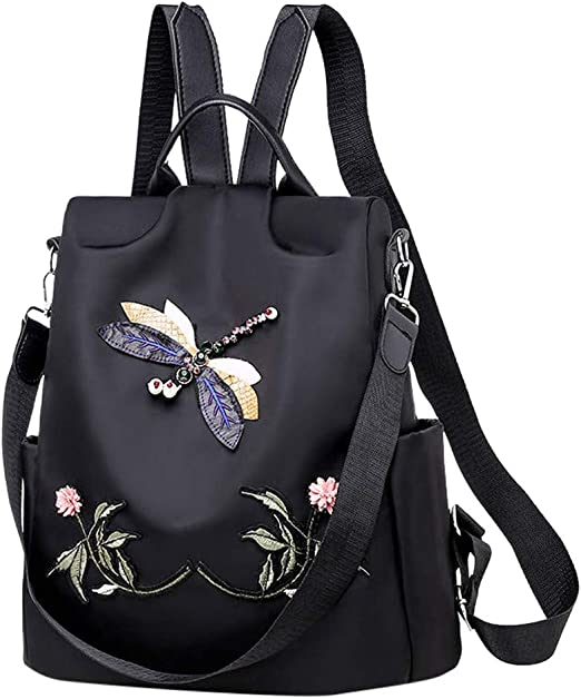 Girls School Bag Lightweight Casual Backpack Rucksack for Women Waterproof Nylon Handbag Travel Daypack Medium