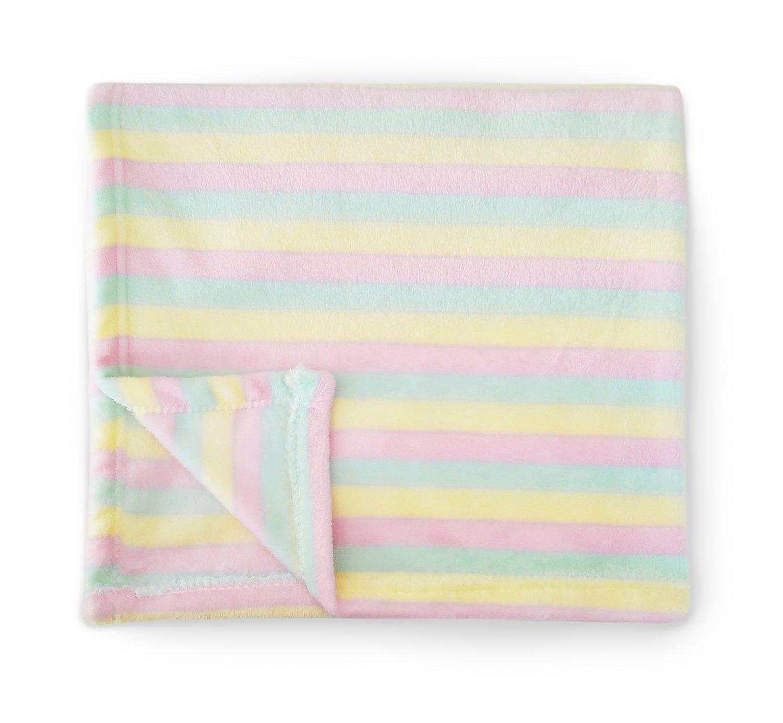 Baby Blanket (Rainbow Stripes) Super Soft Fleece Baby Girl/Baby Boy Blanket/Cozy Blanket/Crib to Toddler/Registry Gift for Boy and Girl/Super Soft/Holiday Baby Blanket