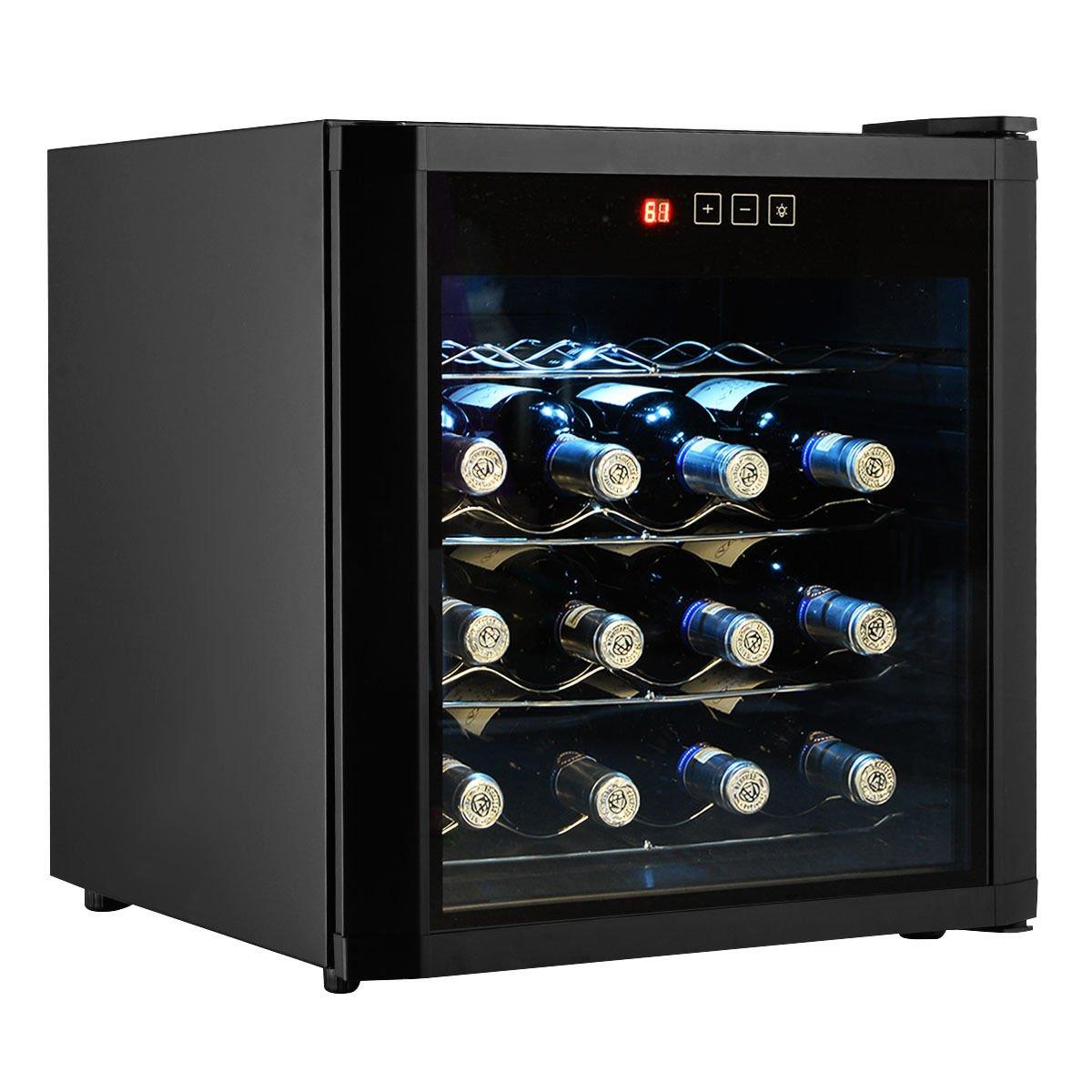 M2 Outlet 16 Bottles Wine Cooler Fridge Cellar Storage Holder Chiller Bar Rack Cabinet