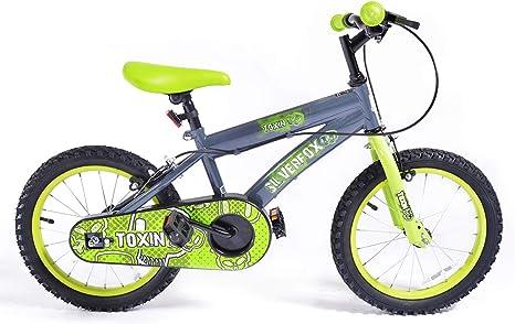 Bicicleta para niños de 30, 36 o 41 cm, con estabilizadores, de FireCloud Cycles, verde: Amazon.es: Deportes y aire libre