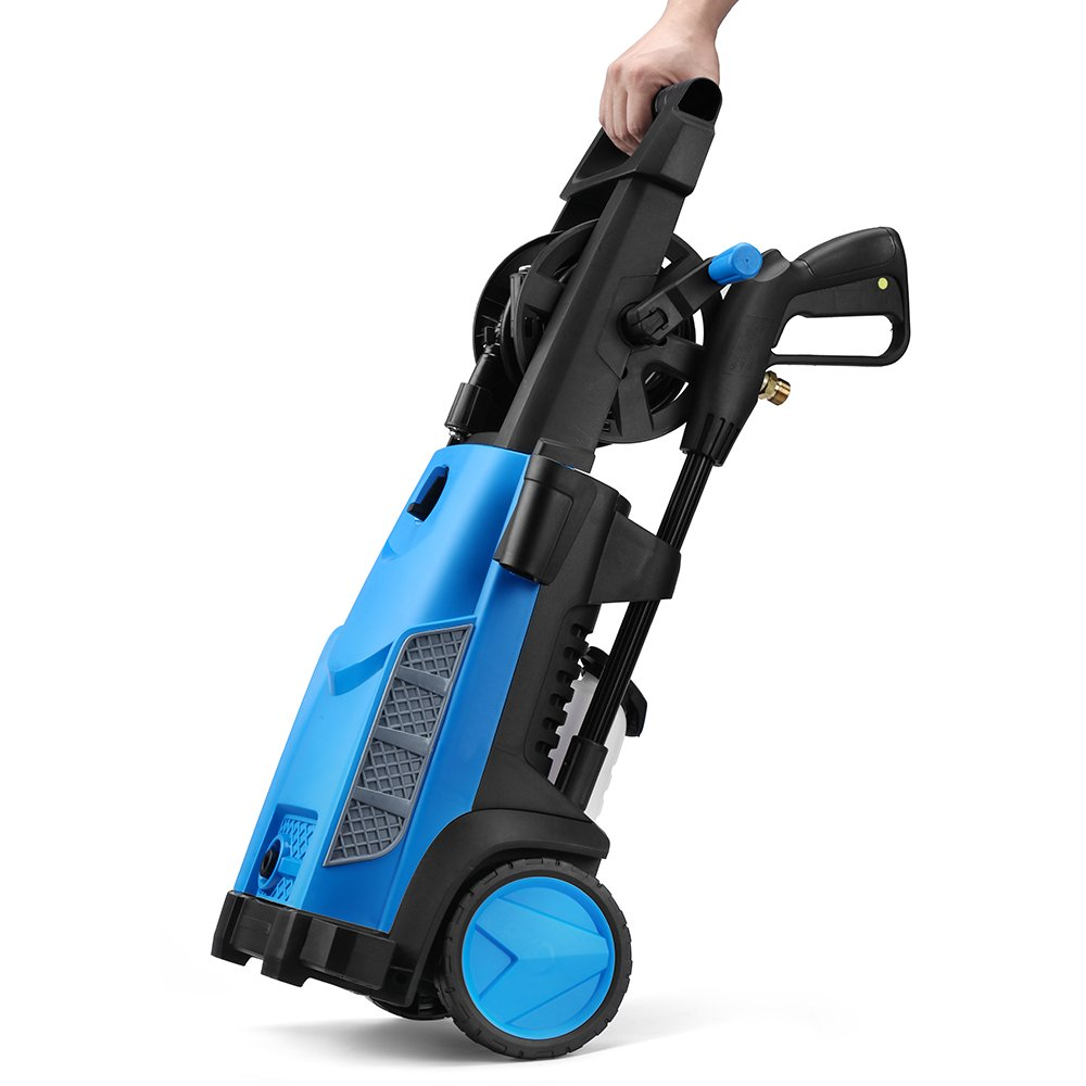 SUNGOLDPOWER Electric High Pressure Washer Max 2400PSI 1.76 GPM with (5) Nozzle Adapter with Hose Reel Soap Dispenser Patio Cleaner by SUNGOLDPOWER (Image #3)
