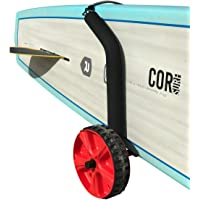 Cor Surf Adjustable Stand Up Paddleboard Cart | Easily Adjusts for Any Sized SUP | Lightweight Dolley with Easy to Use Beach Wheels