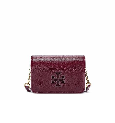 aef2e016d2e Tory Burch Britten Patent Combo Crossbody Bag Red Agate  Amazon.ca  Shoes    Handbags