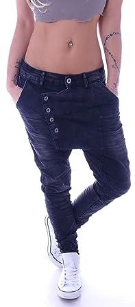 Damen Boyfriend Jeans Haremshose Baggy Hose Hüftjeans Schwarz XS 34 S 36 M  38 L 40 14de7ab9c0