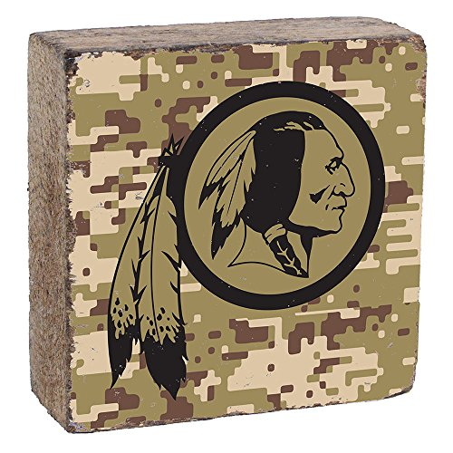 NFL Washington Redskins, Camo Logo Block by Rustic Marlin, 6
