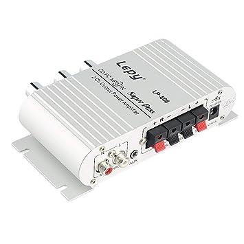 Lorenlli 1 UNID 12 V Amplificador de Audio Estéreo de Alta Fidelidad Altavoz de Altavoces de