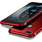 【MOBY】 iPhone6s ケース / iPhone6 ケース [ 極薄型 金属 カバー アルミ加工 カメラ保護 ] アイフォン6s / アイフォン6 4.7インチ 用 耐衝撃 カバー (iPhone6/6s, レッド)