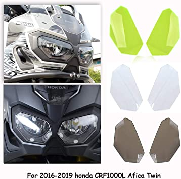 Black Headlight Cover Lights Guard for Honda CRF1000L Africa Twin 2016-2017