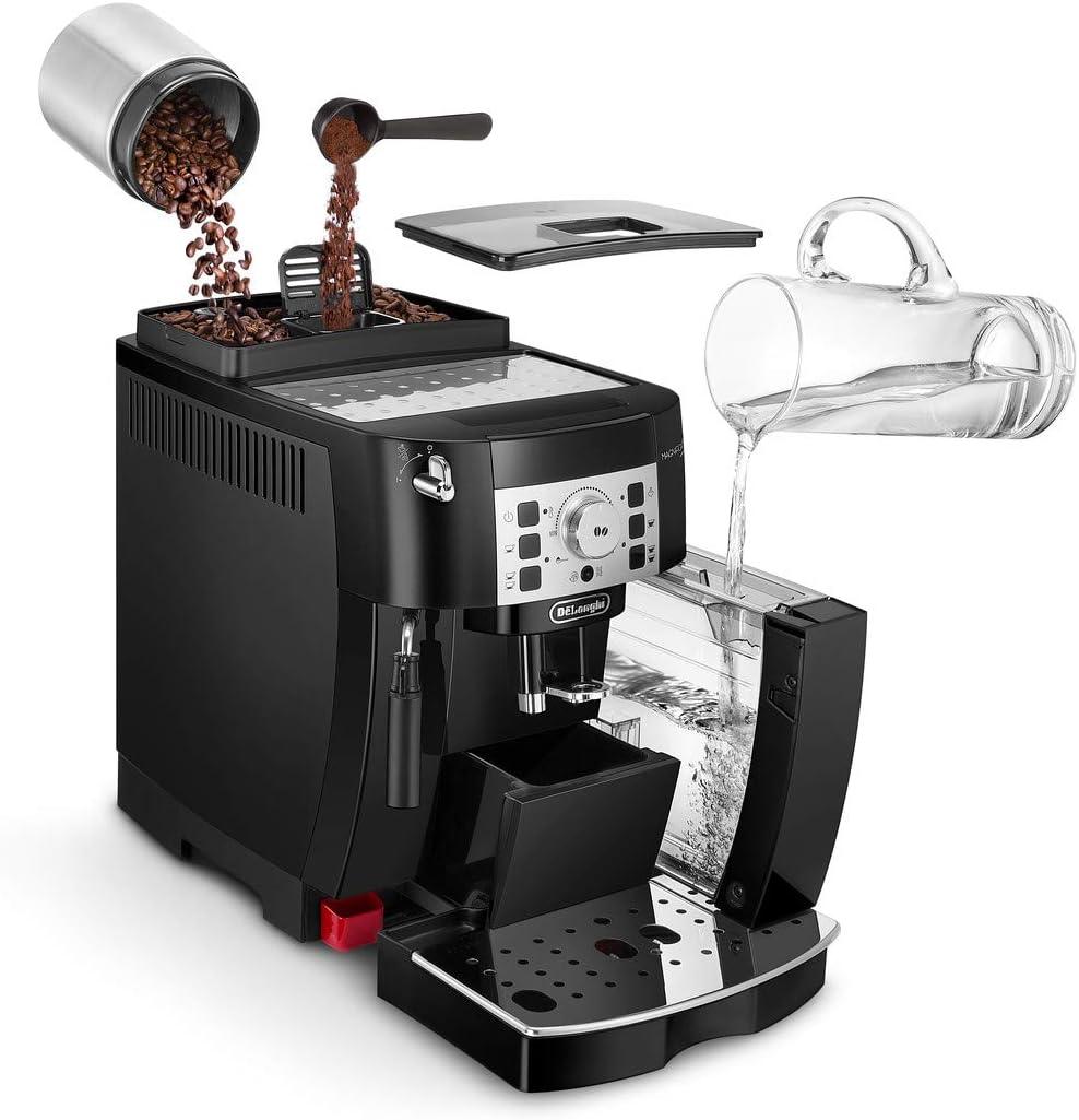 Das zeichnet eine Kaffeemaschine mit Mahlwerk aus