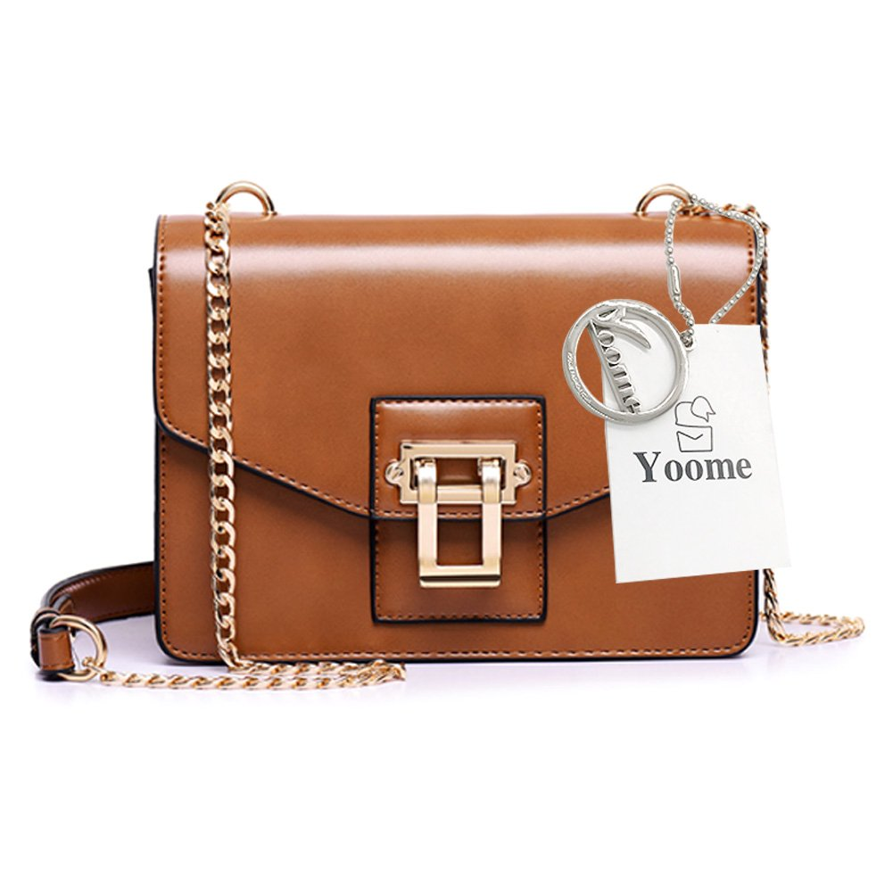 Yoome Alley Style Elegant Flap Bag For Dating Chain Vintage Bags For Women Girls Bags Purses - Brown