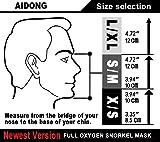 aidong Full Face Snorkel Mask,180 Panoramic Anti
