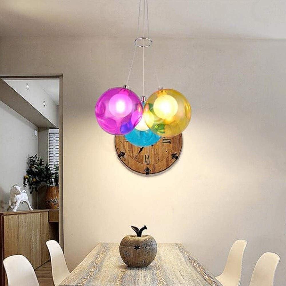 Size : C Simple Creative Chambre Chandelier Bulle en verre de boule de couleur lampe Magasin de v/êtements Stairwell Salon lampe Chambre personnalit/é bar Lampe 01-04