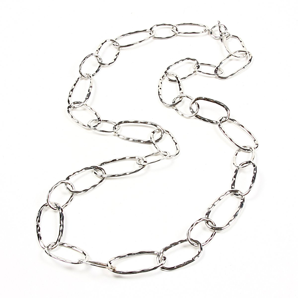 Amrita Singh Hammered Loop Necklace Silver