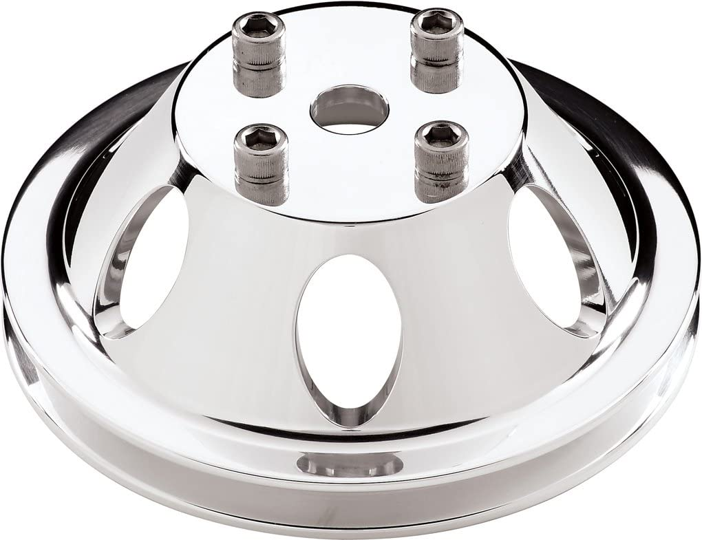 CHEVY//GM ALUMINUM ALTERNATOR FAN /& PULLEY SET 1 GROOVE POLISHED