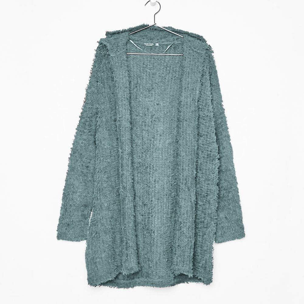 Casual Long Sleeve Hoodies Loose Cardigan Outwear Long Hooded Coat Women