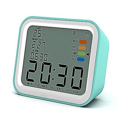 Reloj Despertador LCD, Reloj Digital De Pantalla Grande Con 2 Alarmas, Alarmas De Días