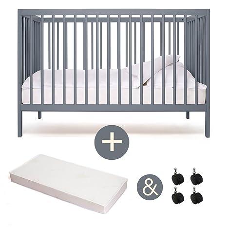 Cuna - cama infantil - Nevera Cuna - mokee - Stone Blue - con ...