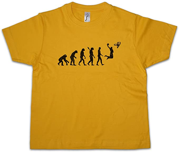 Basketball Evolution Niños Chicos Kids T-Shirt Dunk Player NBA Game Champion Basket Above The