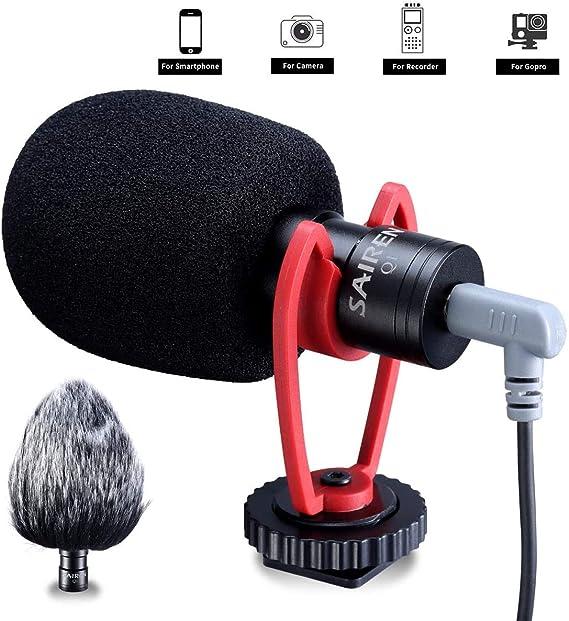 SAIREN VM-Q1 Micrófono de Video con Escopeta, Universal para ...