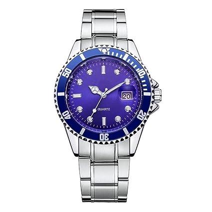 Reloje Hombres Reloj militar de acero inoxidable para hombre Reloj análogo de cuarzo deportivo reloj niño