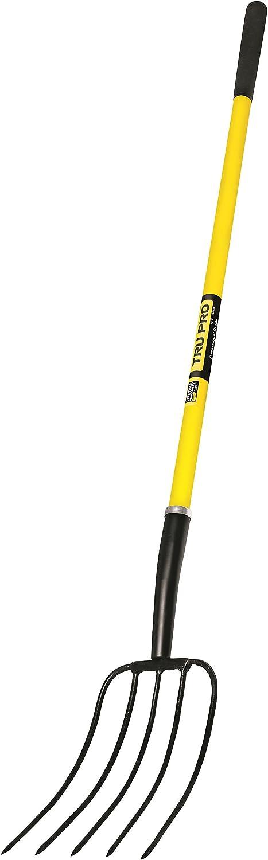 Truper 33570 Tru Pro Ensilage Fork, 10-Tine Forged, Steel D-Handle, 30-Inch