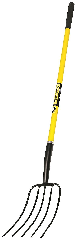 Truper 880154539 Truper 30323 Pro Manure Fork, 5-Tine, Fiberglass Handle, 10-Inch Grip, 50-Inch