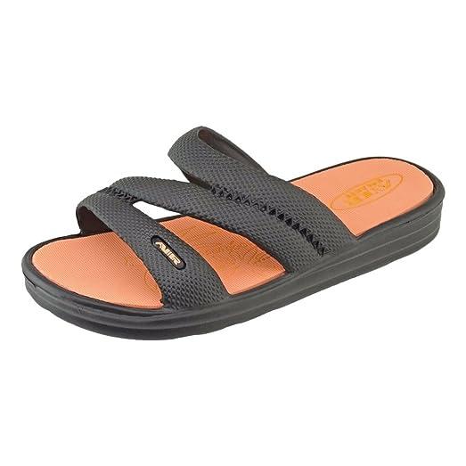 Women's 3-Strap Slip-On Slide Sandals
