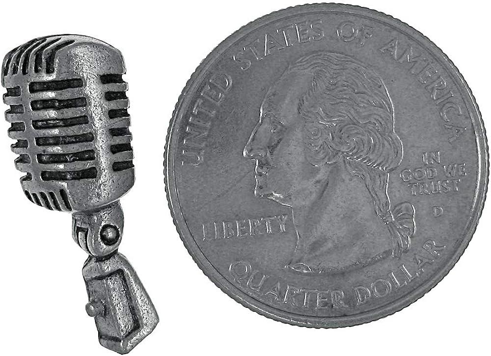 Jim Clift Design Microphone Lapel Pin