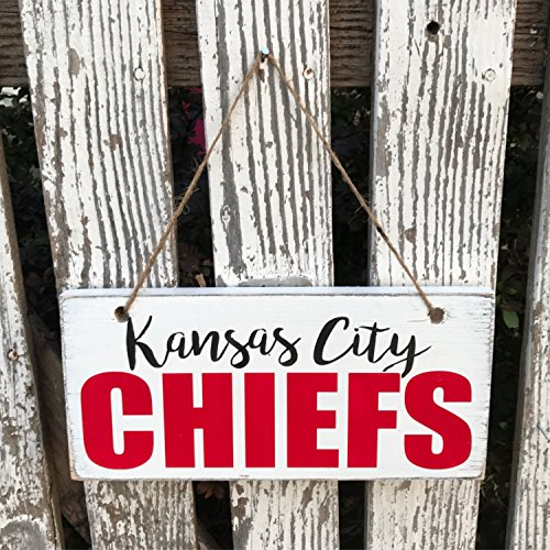 Kansas City Chiefs Hand Wood Sign Front Porch Decor Outdoor Sign Rustic Wood Sign Football Sign Fall Decor Customizable