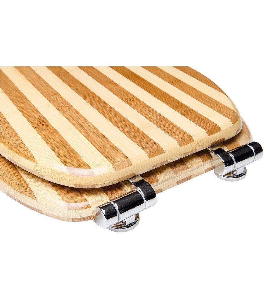 Asiento para inodoro de cierre suave Welcome gran selecci/ón de atractivos asientos de inodoro de madera con calidad superior y duradera