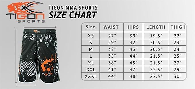 kick boxing lutte Pour arts martiaux mixtes Short UFC MMA de combat professionnel /à gel incorpor/é Tigon Sports muay tha/ï