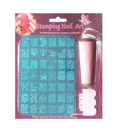 Royalkart Nail Art Stamping Jumbo Image Plates With Stamper