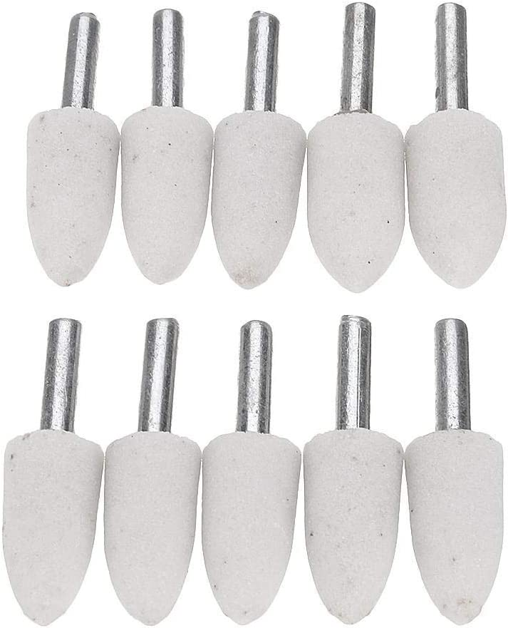 CHUNSHENN Abrasives 10pcs 16//20//25mm Pointed Head Wheel Abrasive Tools for Rotary Tool Abrasive Mounted Grinding Stone tool Abrasive Accessories