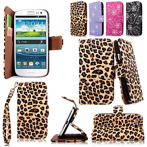 Cellularvilla Wallet Samsung Leopard Leather