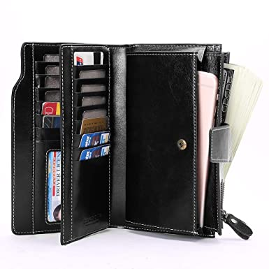 the sale of shoes elegant and sturdy package various colors Elegant 24 20 cc Slots Womens RFID Wallets Large Capacity ...