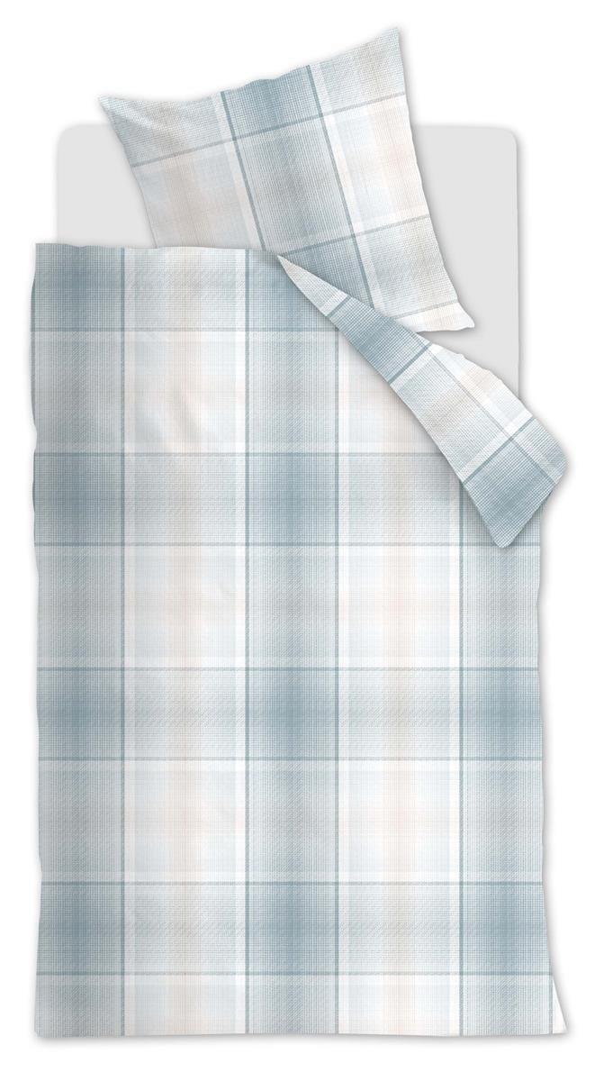Beddinghouse Renforcé Bettwäsche 4 teilig Bettbezug 155 x 220 cm Kopfkissenbezug 80 x 80 cm Baker 155724 Blau