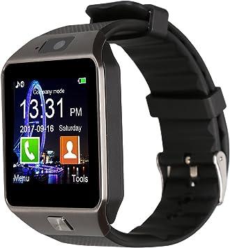 Padgene Smart Watch Bluetooth Teléfono de muñeca con ranura para ...