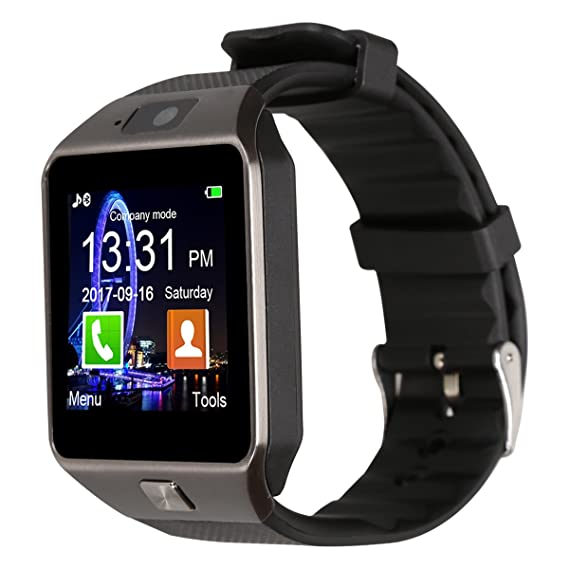 Padgene Dz09 Bluetooth Smart Watch With Camera For Samsung S5 Note 2 3 4 Nexus 6 Htc Sony And Other Android Smartphones Black Black Band