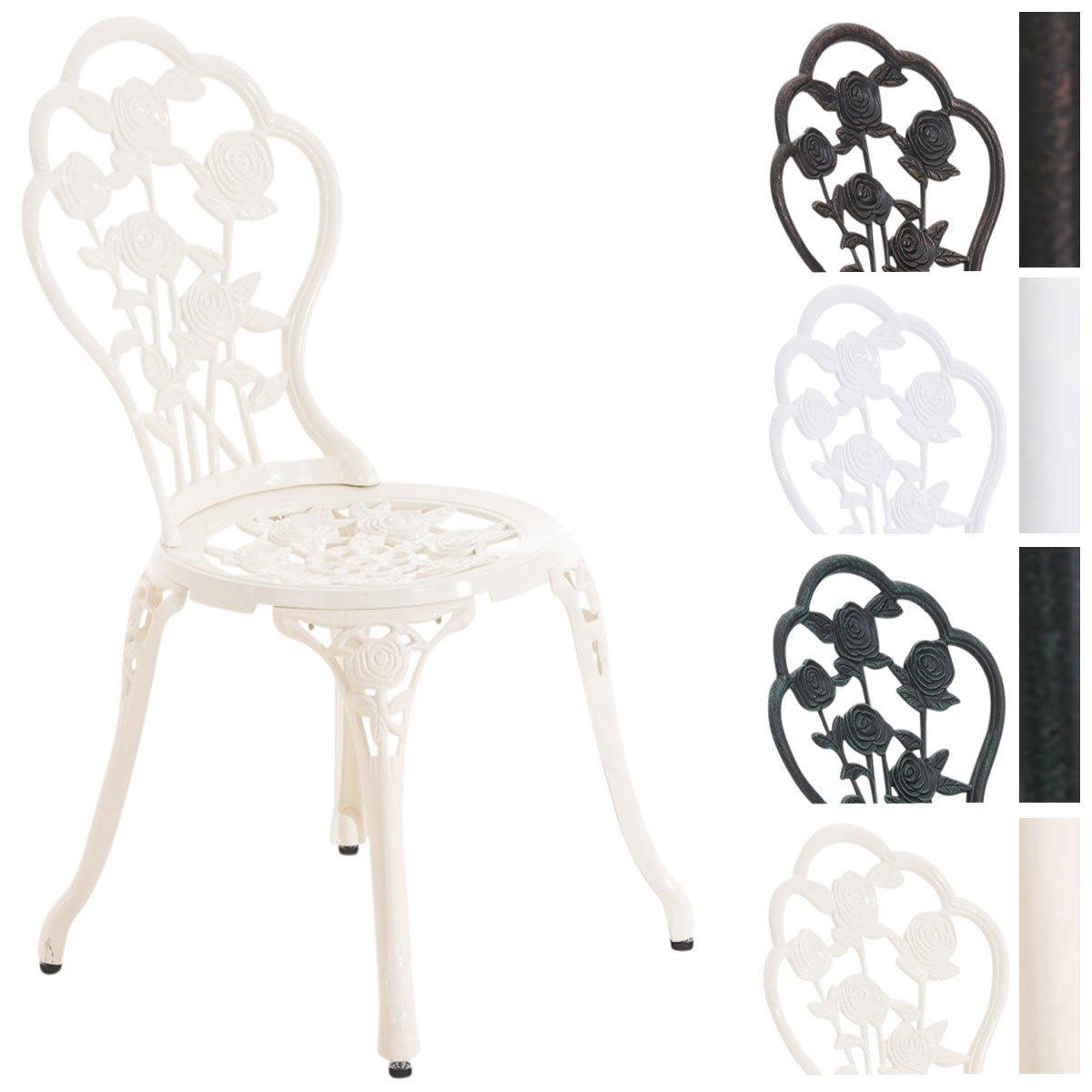 CLP Aluminium cast bistro chair, garden chair GANESHA, weather resistant, antique, nostalgic bronze