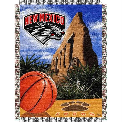 Nfl Home Field Advantage - The Northwest Company Officially Licensed NCAA New Mexico Lobos Home Field Advantage Woven Tapestry Throw Blanket, 48