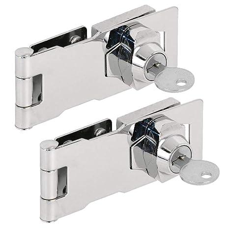 Amazon.com: Cerraduras de cerradura con llave (2 paquetes ...