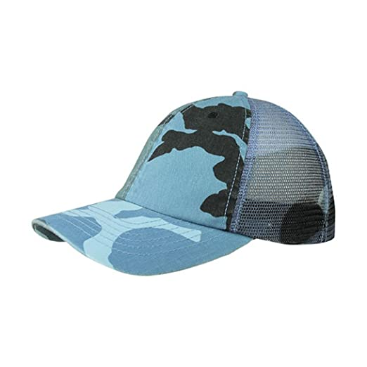 aff7d08877b6f G Men s Enzyme Washed Camouflage Trucker Mesh Cap (Blue Camo) at ...
